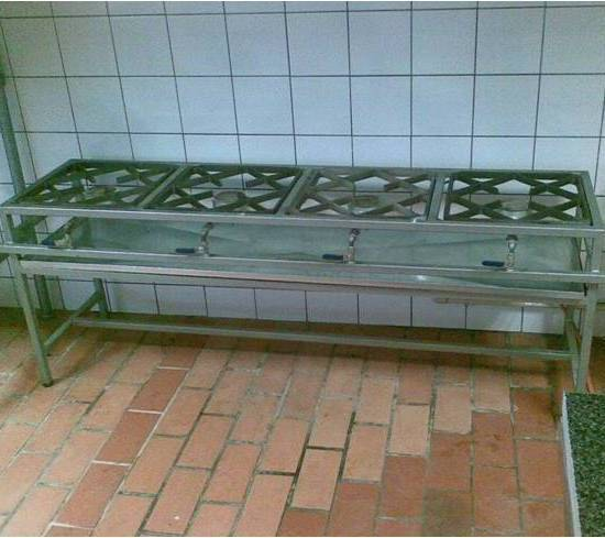 free standing gas boiling table
