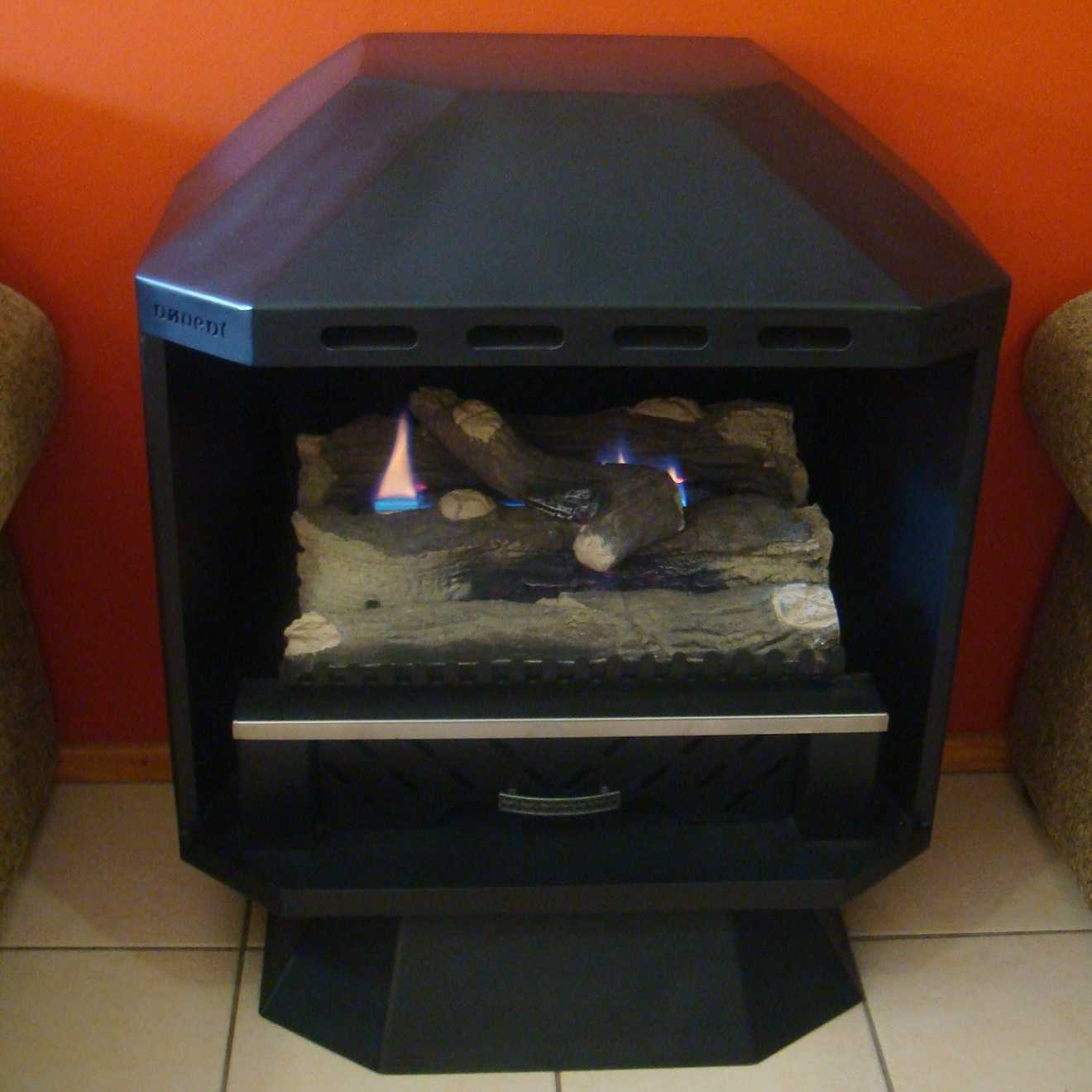 freestanding no vent gas fireplace